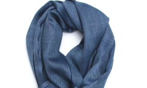 royal alpaca scarf blue small
