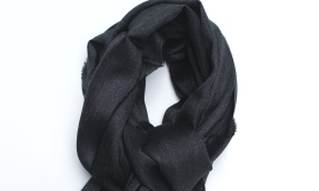 royal alpaca scarf charcoal small
